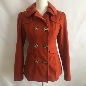 Hydraulic Rust Pea Coat